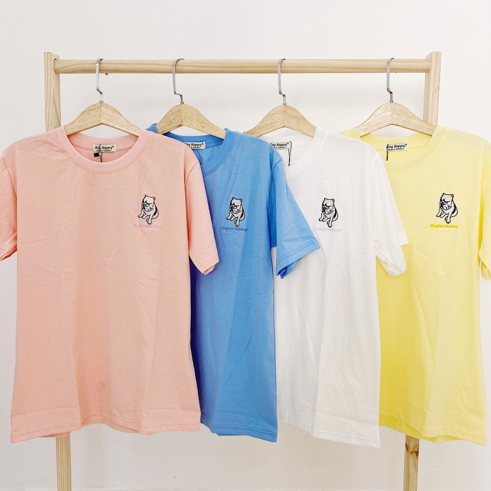 Say Happy Tshirt - Áo thun xanh form medium