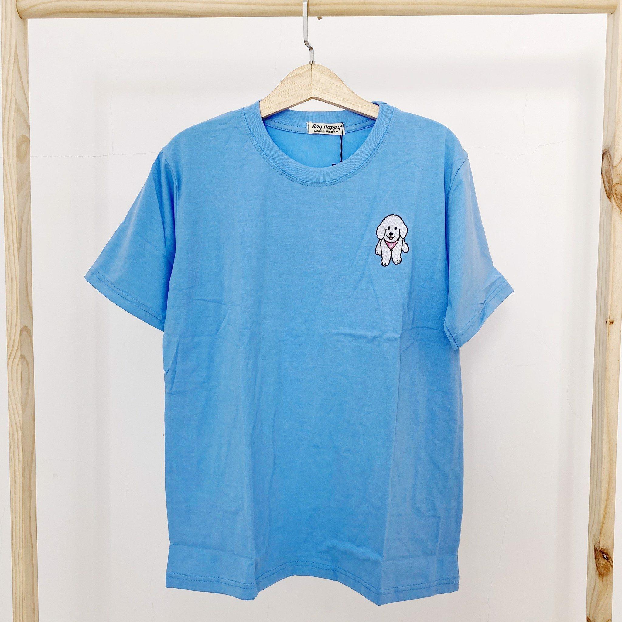 Say Happy Tshirt - Áo thun xanh form medium thêu
