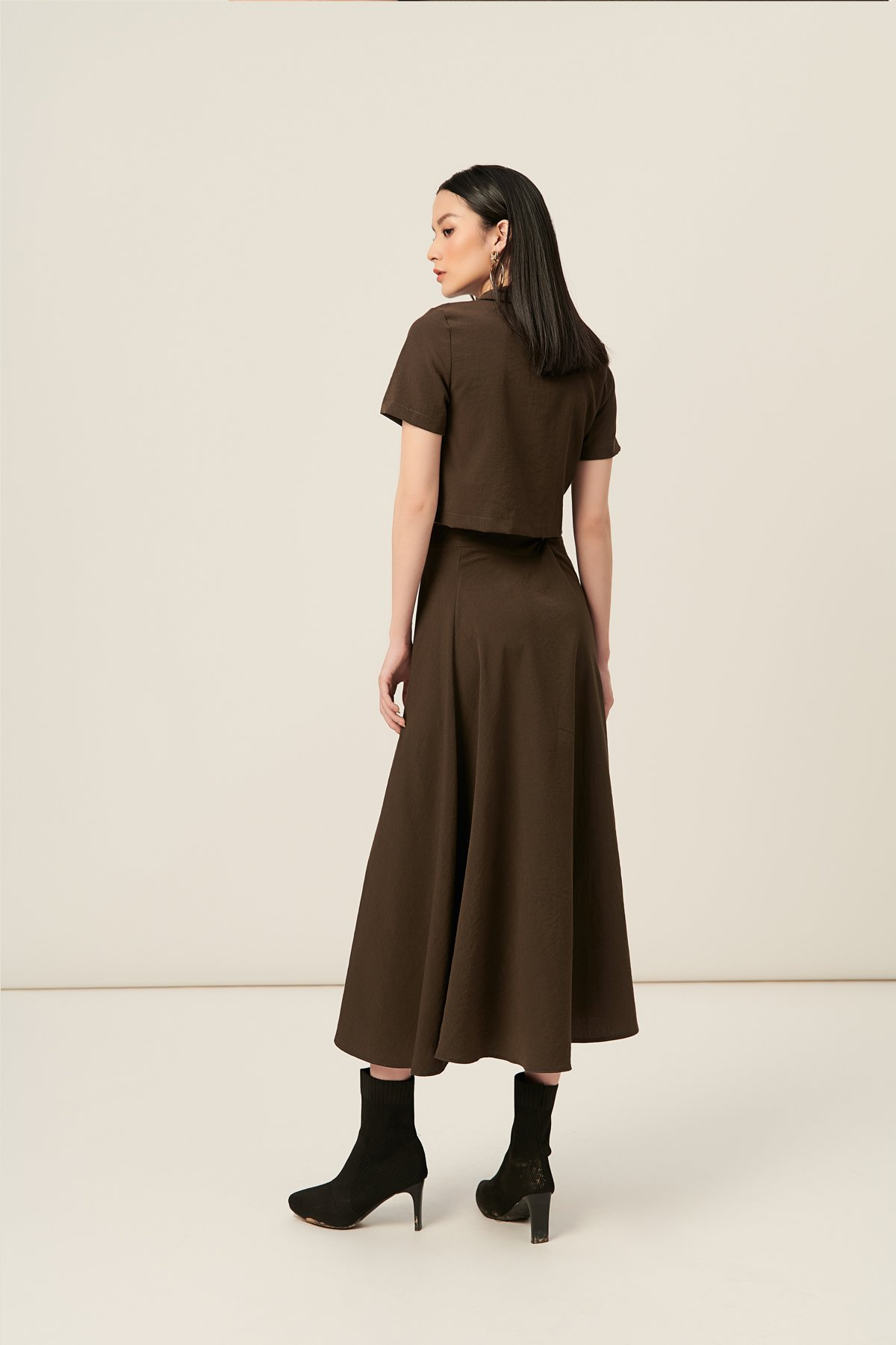 Bộ linen army cổ danton - Fern army two-piece outfit