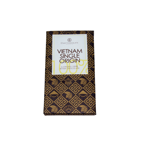 THANH SOCOLA VIỆT NAM SINGLE ORIGIN - A STRONG 100% BITTER CHOCOLATE