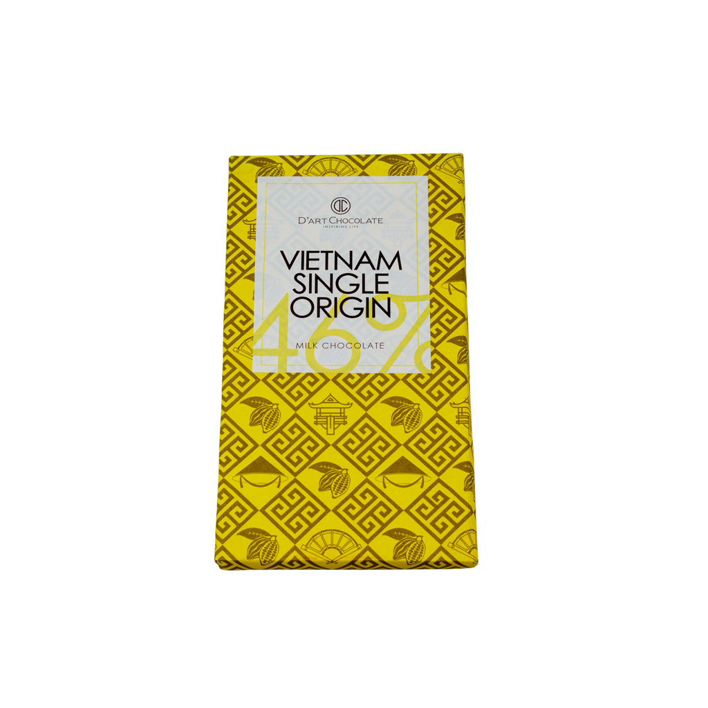 THANH SOCOLA VIỆT NAM SINGLE ORIGIN 46% - MILK CHOCOLATE