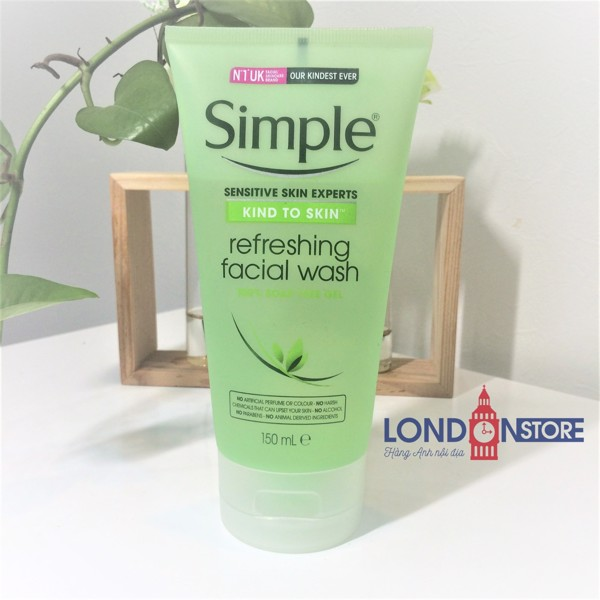 Sữa Rửa Mặt Simple Kind To Skin Refreshing Facial Wash Gel