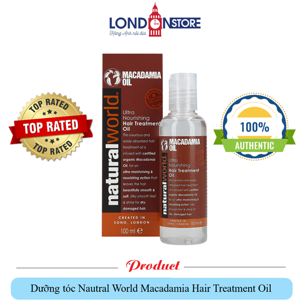 Dầu dưỡng tóc Natural World Macadamia Oil Hair Treatment Oil