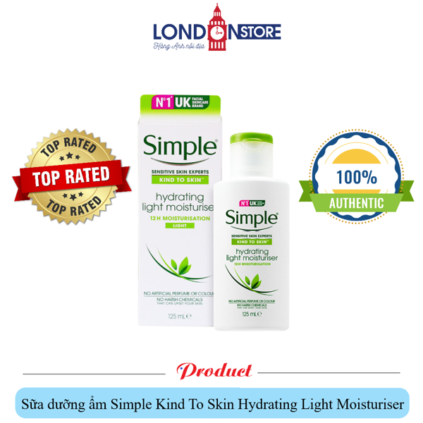 Sữa Dưỡng Simple Hydrating Light Moisturiser 125ml
