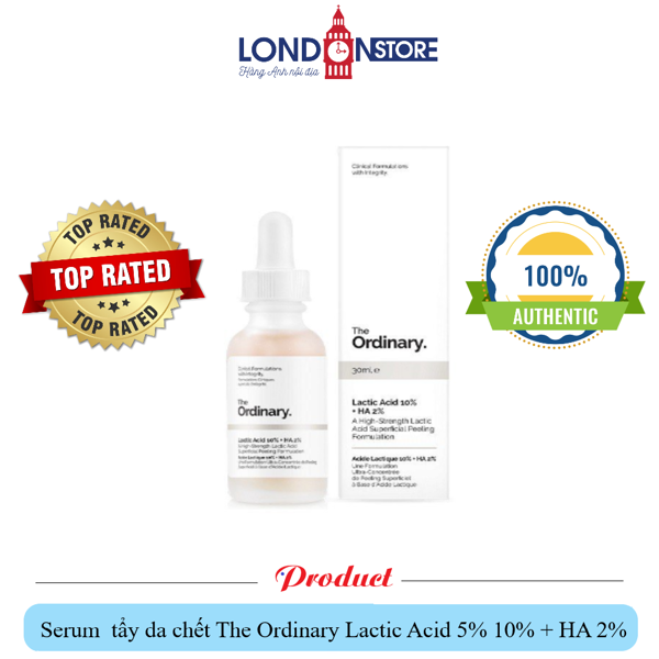Serum AHA tẩy da chết The Ordinary Lactic Acid 5% 10% + HA 2% 30ml