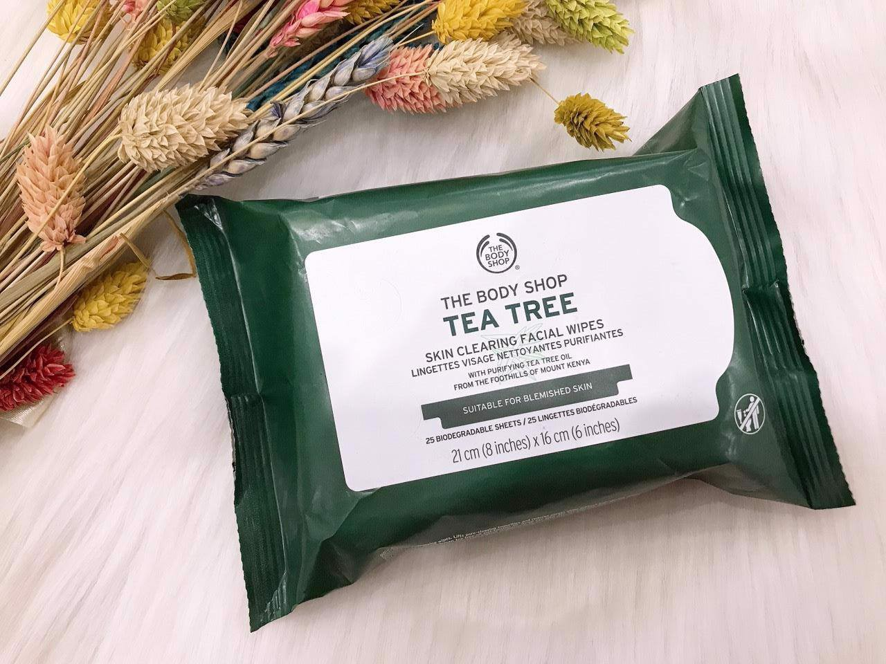 Khăn giấy tẩy trang The Body Shop Tea Tree Skin Clearing Facial Wipes