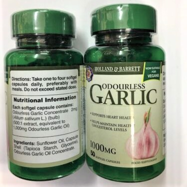 Dầu tỏi Holland & Barrett Odourless Garlic 300mg 100 viên