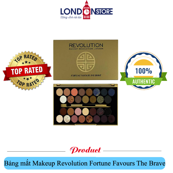 Bảng mắt 30 màu Makeup Revolution Fortune Favours The Brave