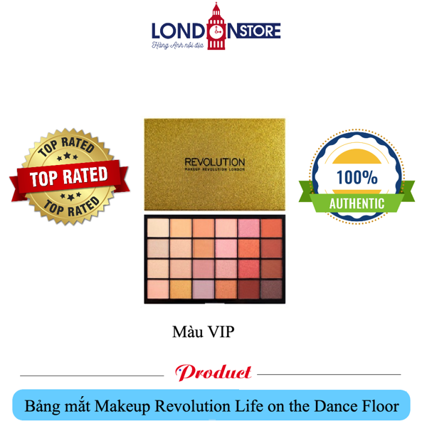 Bảng mắt 24 màu Makeup Revolution Life on the Dance Floor