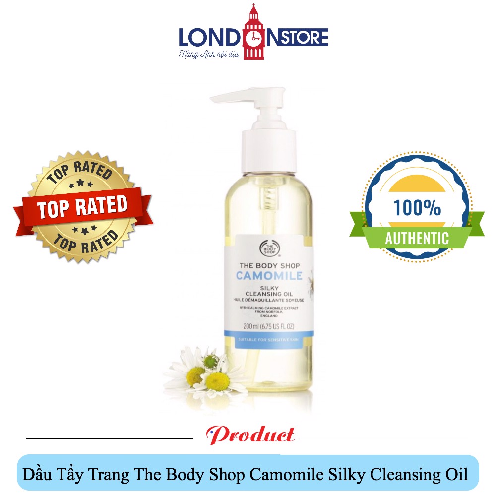 Dầu Tẩy Trang Hoa Cúc The Body Shop Camomile Silky Cleansing Oil 200ml