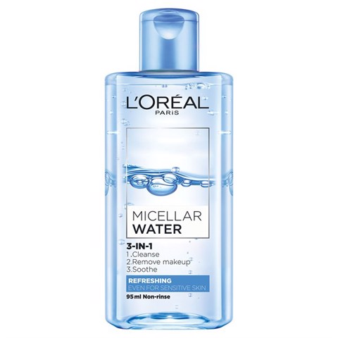 Nước Tẩy Trang L'Oreal Paris Micellar Water 3 in 1 Refreshing 95ml