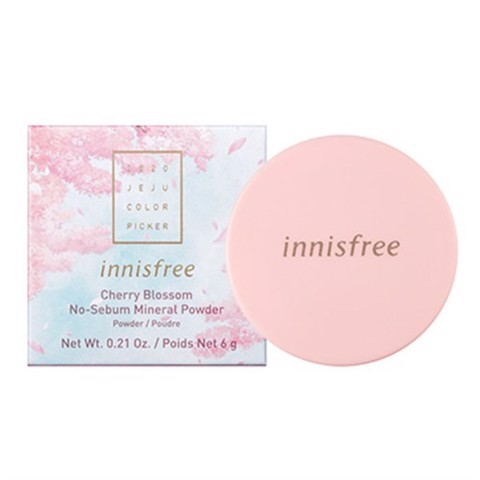 Phấn Phủ Bột Innisfree Cherry Blossom No Sebum Mineral Powder 6g