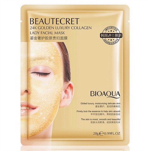 Mặt Nạ BIOAQUA Beautecret 24K Golden Luxury Collagen