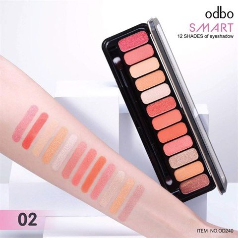 Phấn mắt Odbo Smart 12 Shades Of Eyeshadow Palette OD240