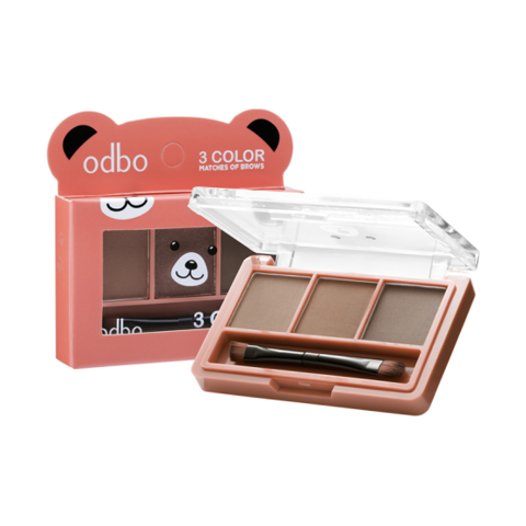 Set Bột Kẻ Mày Odbo 3 Color Matches Of Brows OD797