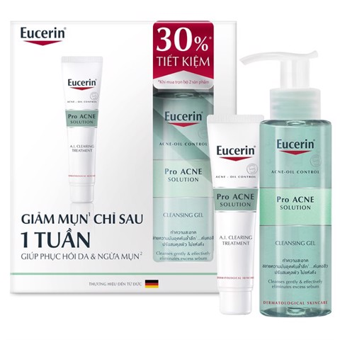 Kem Trị Mụn Eucerin Pro Acne Solution AI Clearing Treatment 40ml - Tặng SRM 200ml