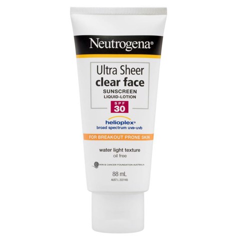 Kem Chống Nắng Neutrogena Ultra Sheer Clear Face Sunscreen Liquid Lotion SPF30 88ml