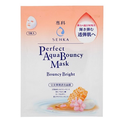 Mặt Nạ Senka Perfect Aqua Bouncy Mask Bright 25ml