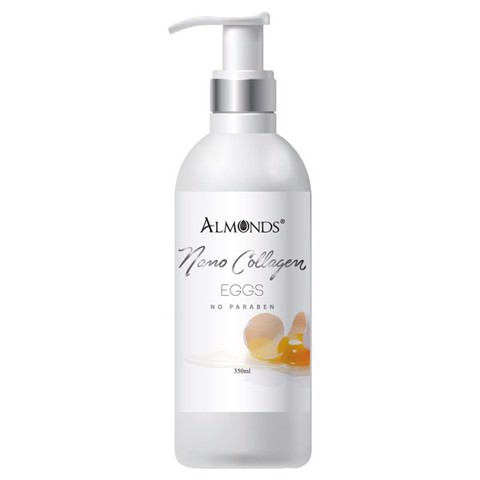 Ủ Kích Trắng Body Almonds Nano Collagen Eggs 350ml