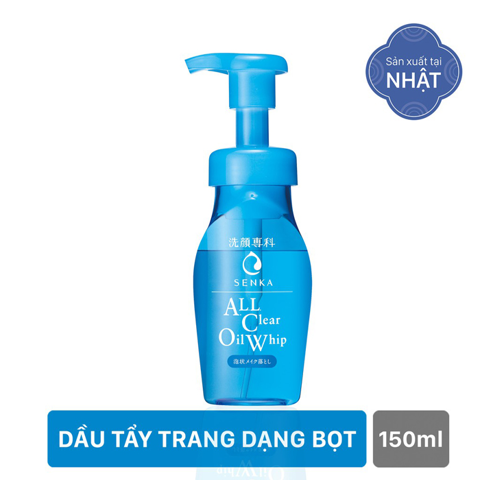 Dầu tẩy trang Shiseido Senka All Clear Oil Whip 150ml