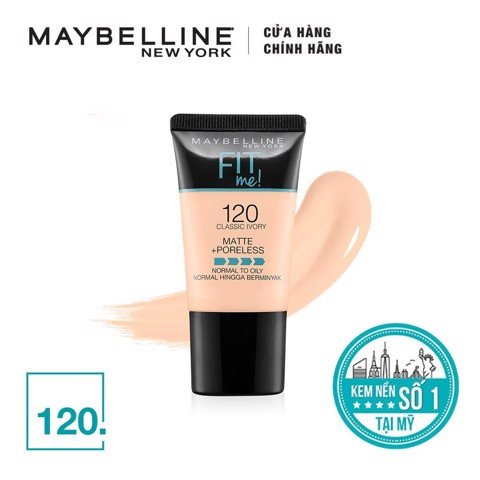 Kem Nền Maybelline Fit Me Matte + Poreless Foundation 5ml