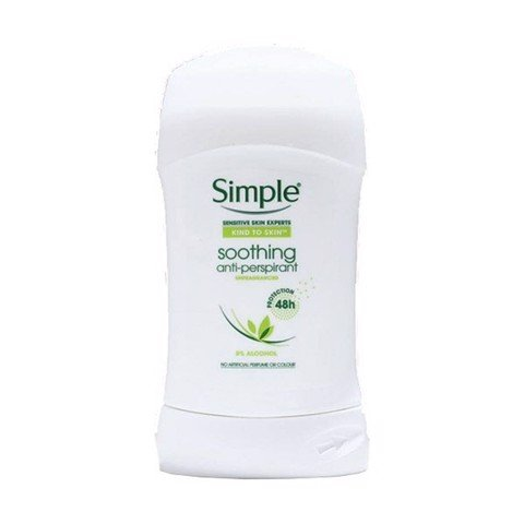 Lăn Khử Mùi Simple Soothing Anti-perspirant Protection 48h 40ml