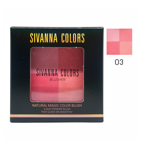 Phấn Má Hồng Sivanna Colors Natural Magic Color Blush HF4005