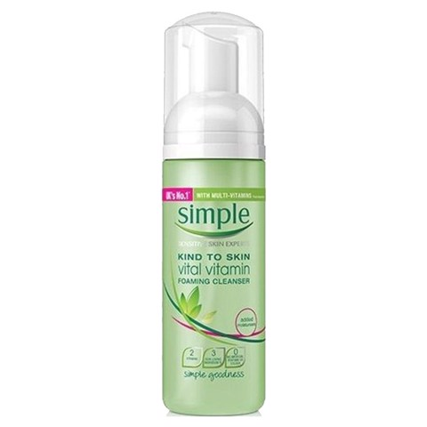 Sữa Rửa Mặt Simple Kind to Skin Vital Vitamin Foaming Cleanser 150ml