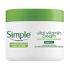 Kem Dưỡng Da Ban Đêm Simple Kind To Skin Vital Vitamin Night Cream 50ml
