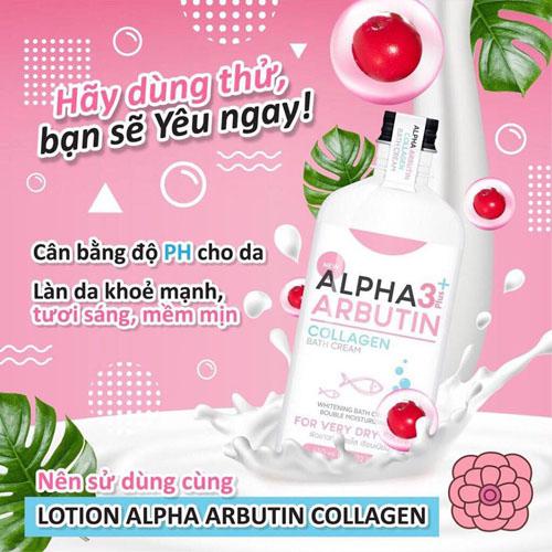 Sữa Tắm Trắng Da Alpha Arbutin 3 Collagen Bath Cream 350ml – Shop Đẹp 7 Ngày