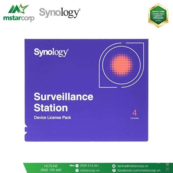 License Synology Surveillance Station pack 4
