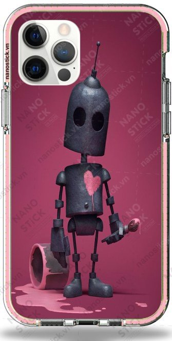 Ốp Lưng iPhone 12 Pro Max in hình Lonely Robot 011