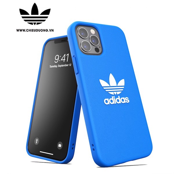Ốp lưng Adidas OR Moulded TREFOIL SNAP BASIC FW20 cho iPhone 12 Pro Max Blue/ White