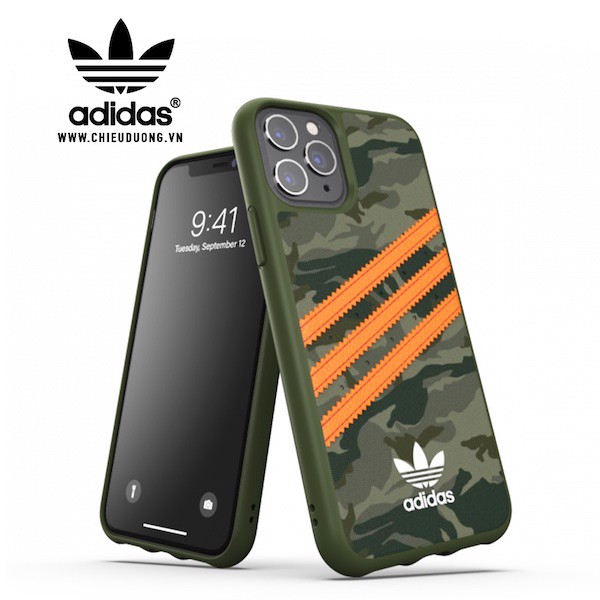 Ốp ADIDAS OR Moulded Case PU FW20 for iPhone 12 Pro Max Camo Orange
