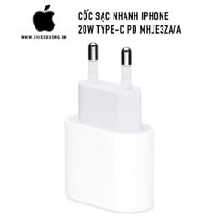 Sạc nhanh Apple iPhone 20W Type-C PD MHJE3ZA/A