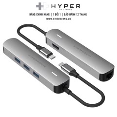 Cổng chuyển Hyperdrive Bar 6 trong 1 USB-C Hub cho macbook, PC & Devices