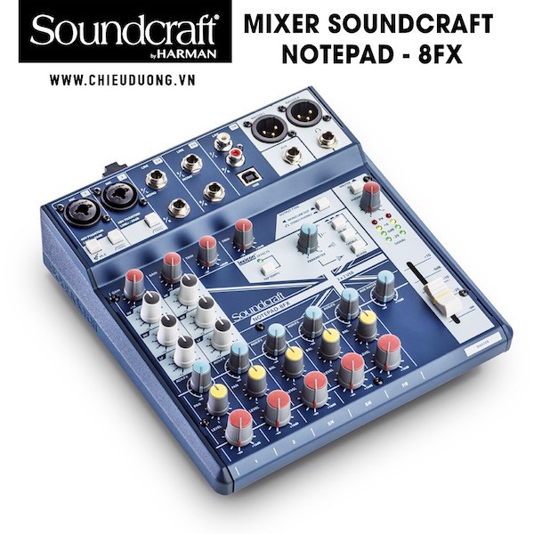 Bàn Mixer Soundcraft Notepad - 8FX