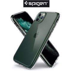 Ốp iPhone 11 Pro Max Spigen Crystal Hybrid - Trắng trong