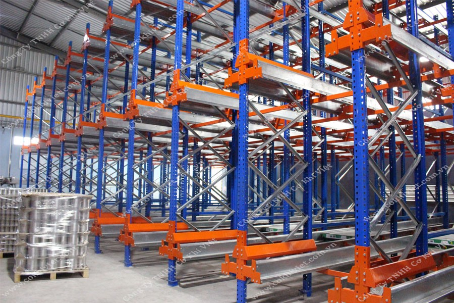 Radio Shuttle racking system installation for Luong Quoi Coconut Co., Ltd