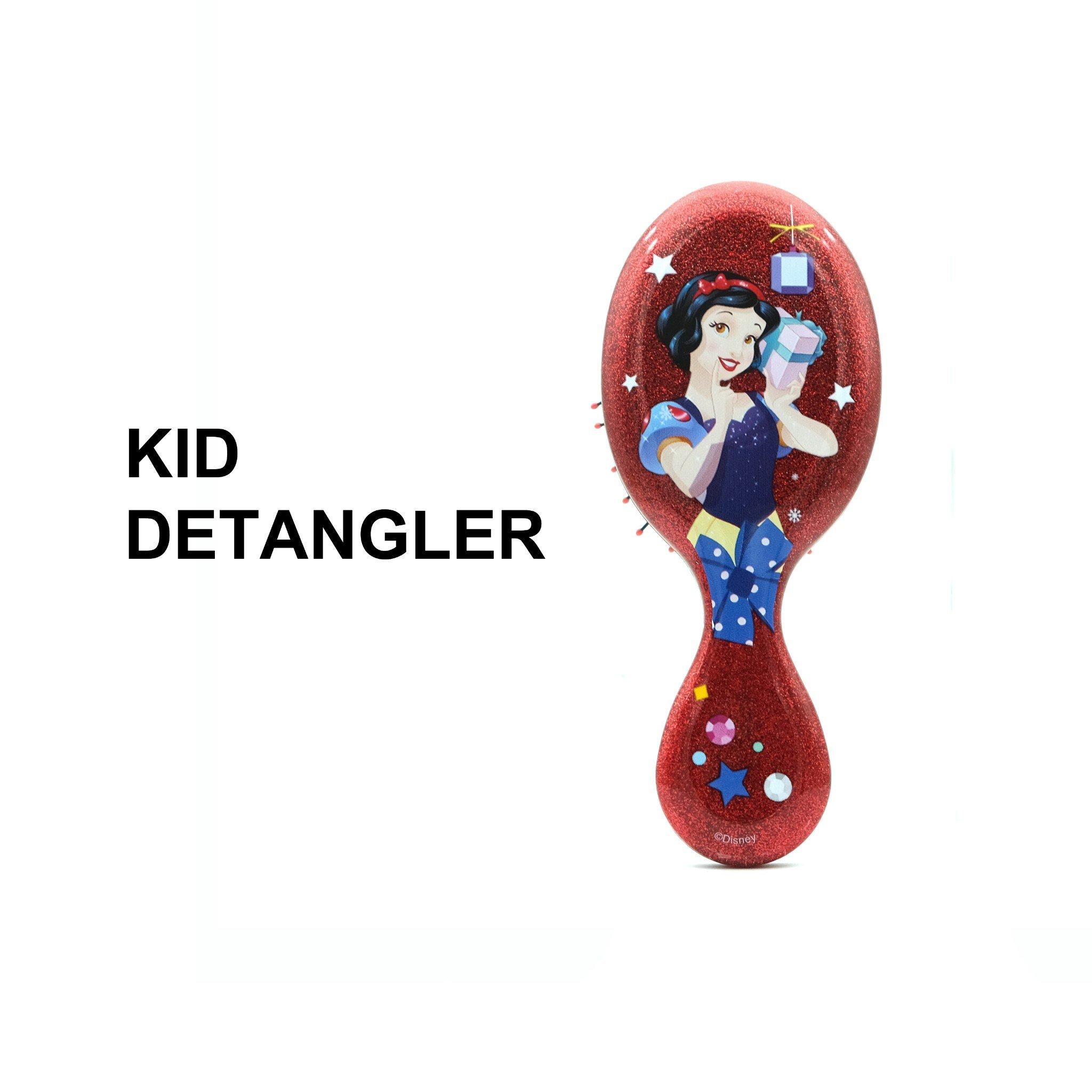 Lược chải tóc WB Mini Detangler-Disney Glitter Ball- Snow White-Red
