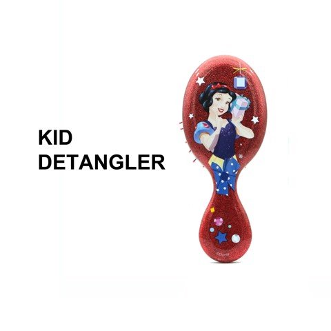 Lược chải tóc WB Mini Detangler-Disney Glitter Ball- Snow White-Red