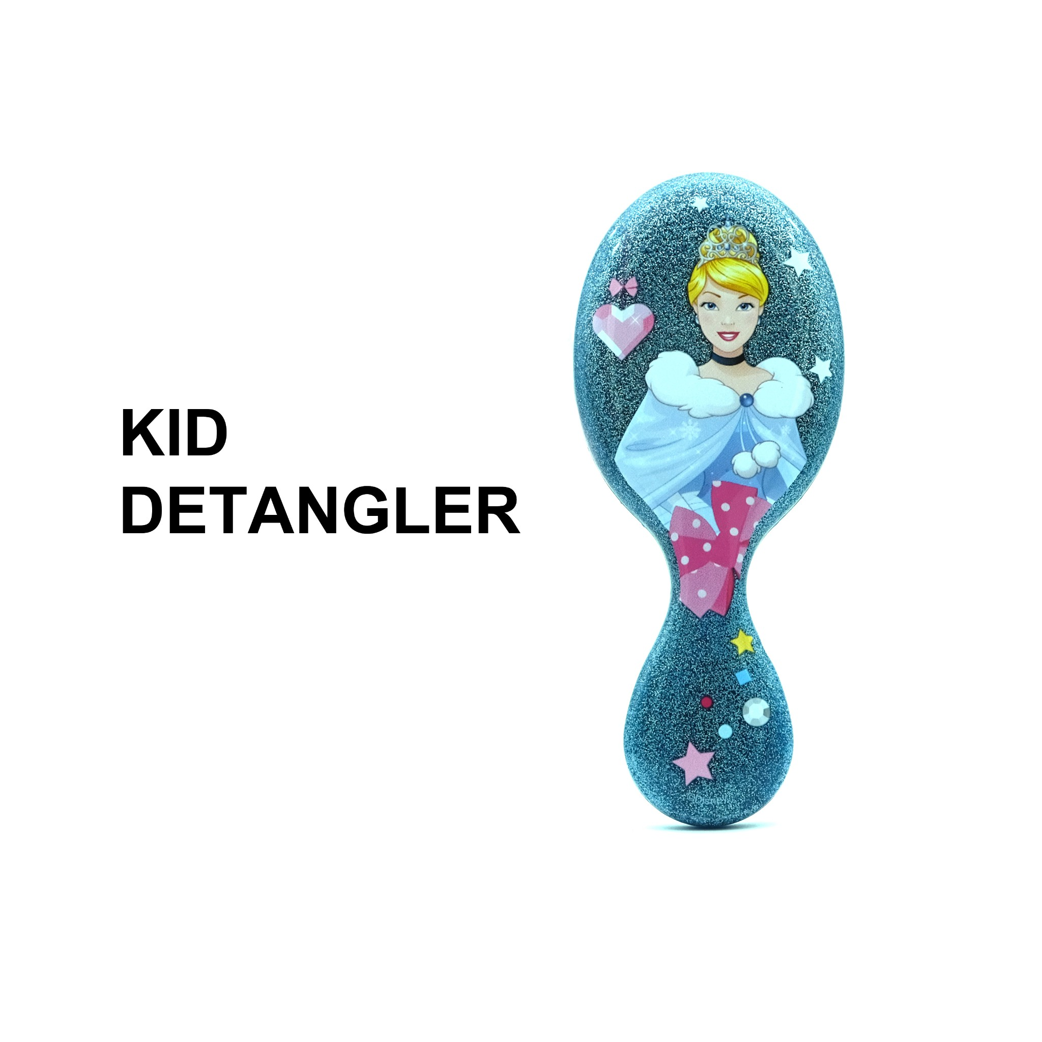 Lược chải tóc WB Mini Detangler-Disney Glitter Ball- Cinderella-Blue