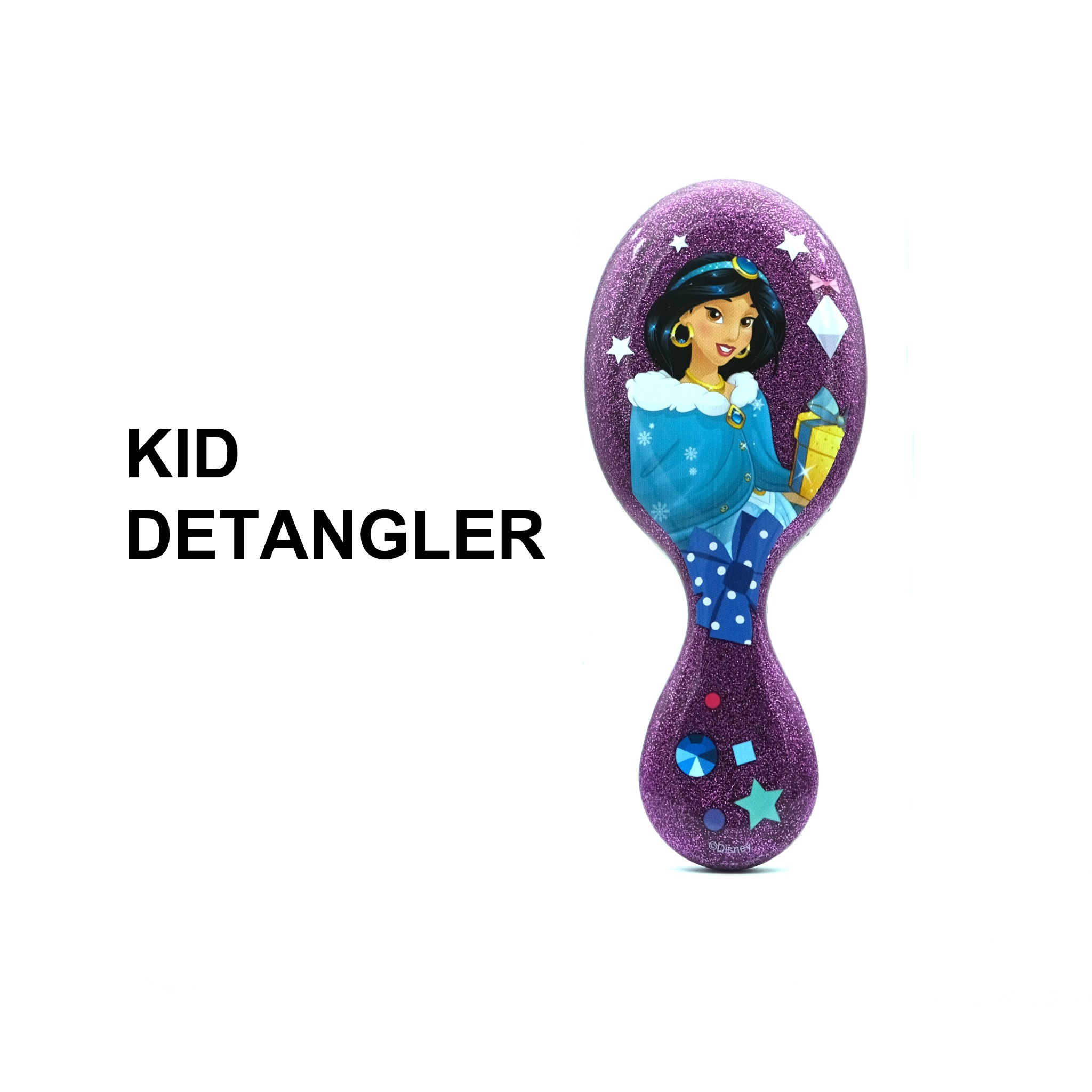 Lược chải tóc WB Mini Detangler-Disney Glitter Ball- Jasmine-Purple