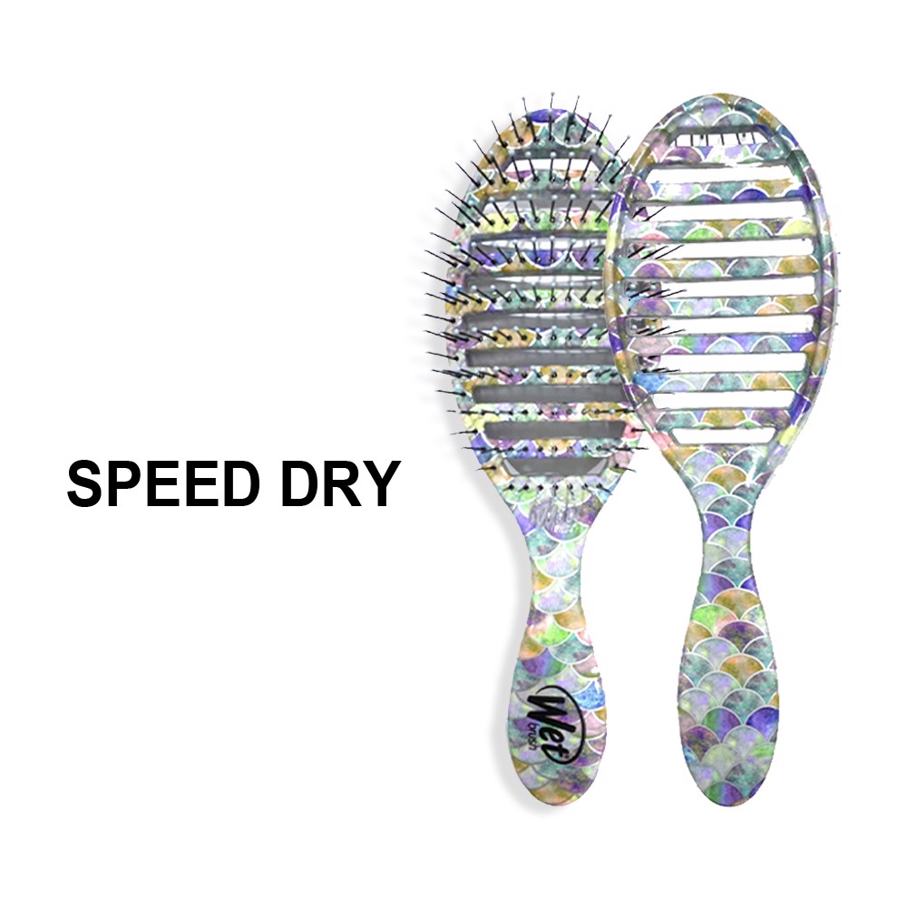 021Lược chải tóc WET BRUSH SPEED DRY - Treasured Waters - Mermaid Tail