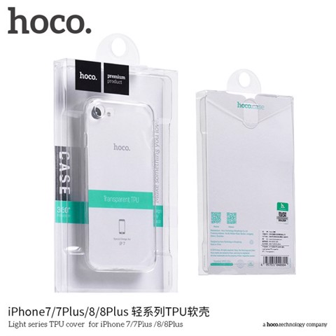 ỐP LƯNG TRONG SUỐT HOCO IPHONE 7/8PLUS