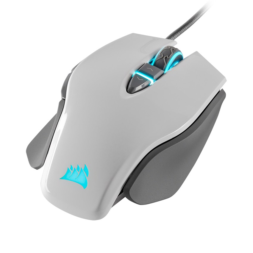 Chuột Corsair M65 RGB  ELITE White - Up to 18k DPI