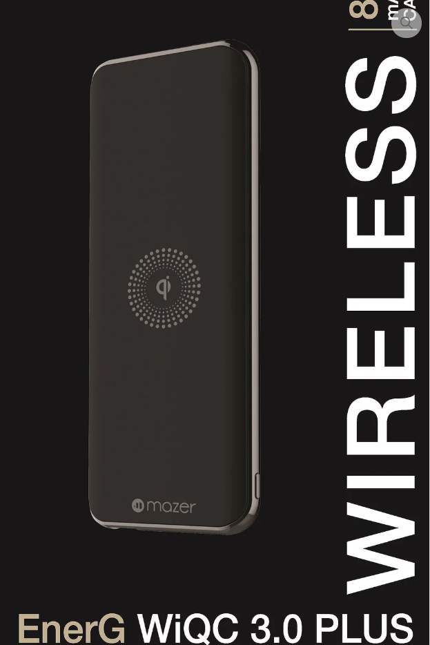 MAZER EnerG WiQC 3.0 PLUS Wireless Power Bank