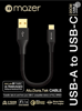 Mazer USB-A to USB-C 3.1A Fast Charge Cable-0.2M