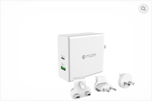 EnerG.BOOST 65W TRAVEL USB-C PD+QC3.0 Wall Charger
