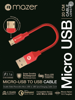 Mazer Micro-USB Reversible 3.1A Fast Charging Cable-0.2M